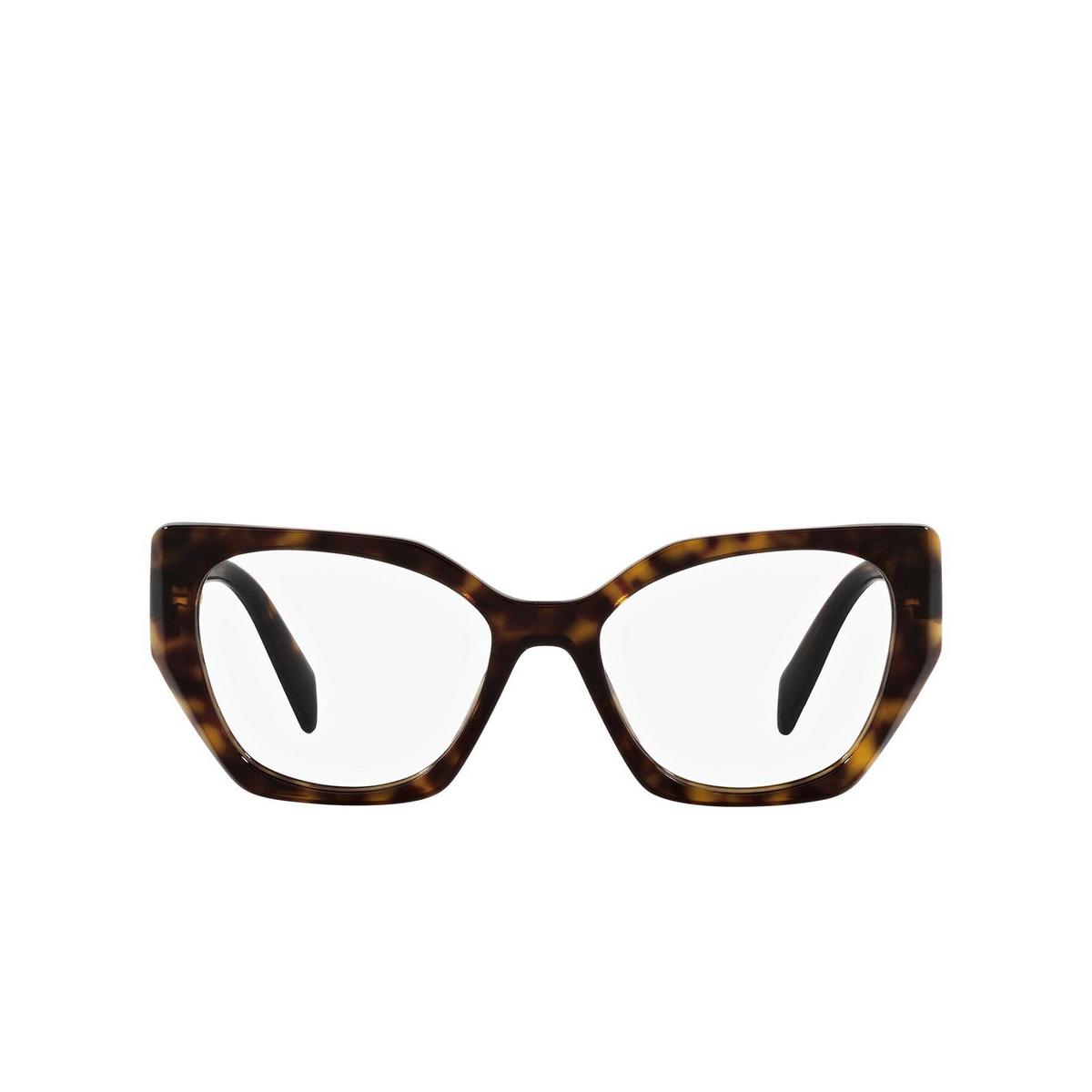 Prada® Irregular Eyeglasses: PR 18WV color Tortoise 2AU1O1 - front view.