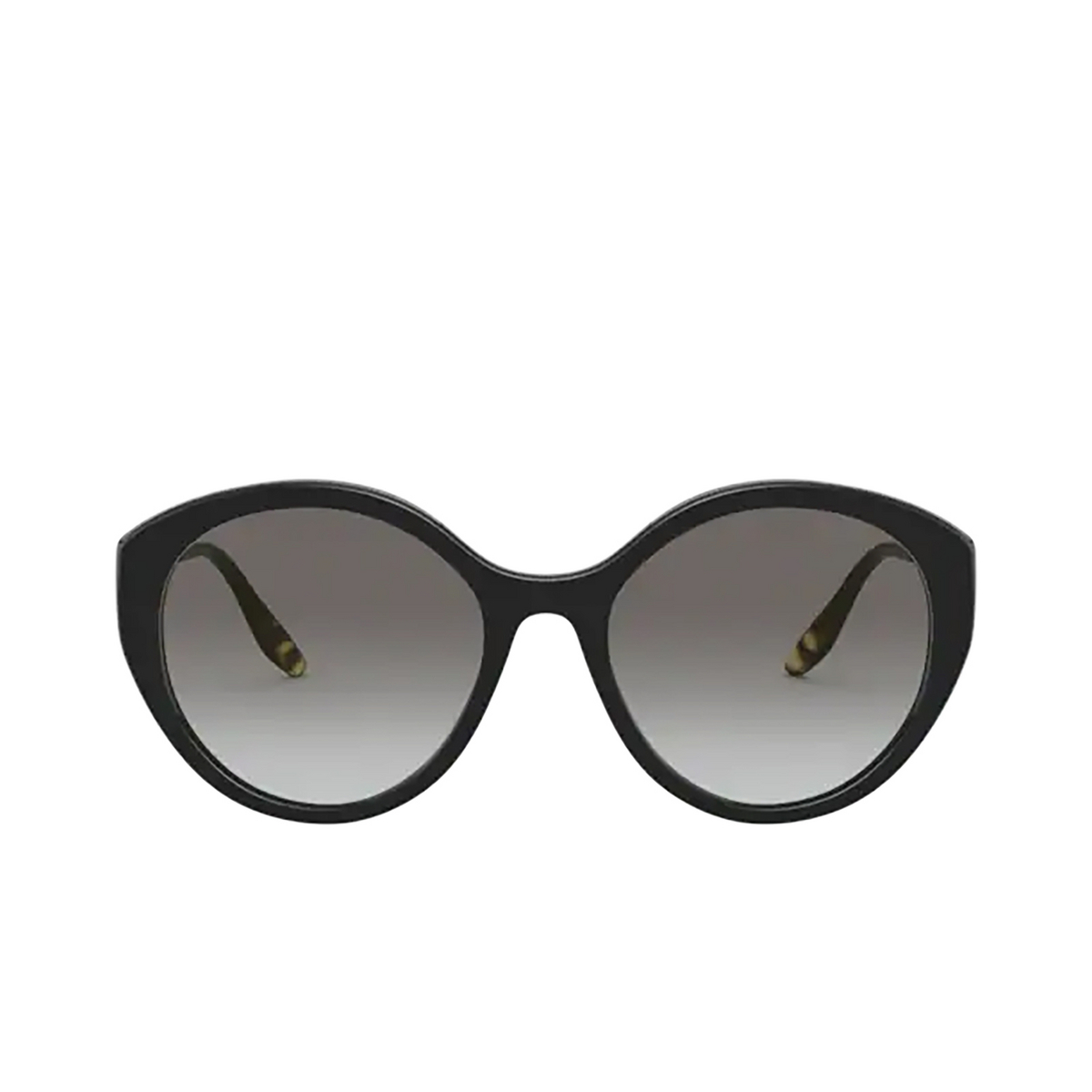 Prada® Round Sunglasses: PR 18XS color Black 1AB0A7.