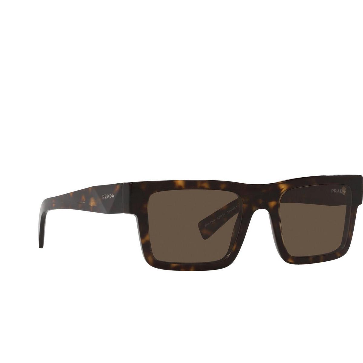 Prada® Rectangle Sunglasses: PR 19WS color Tortoise 2AU8C1.
