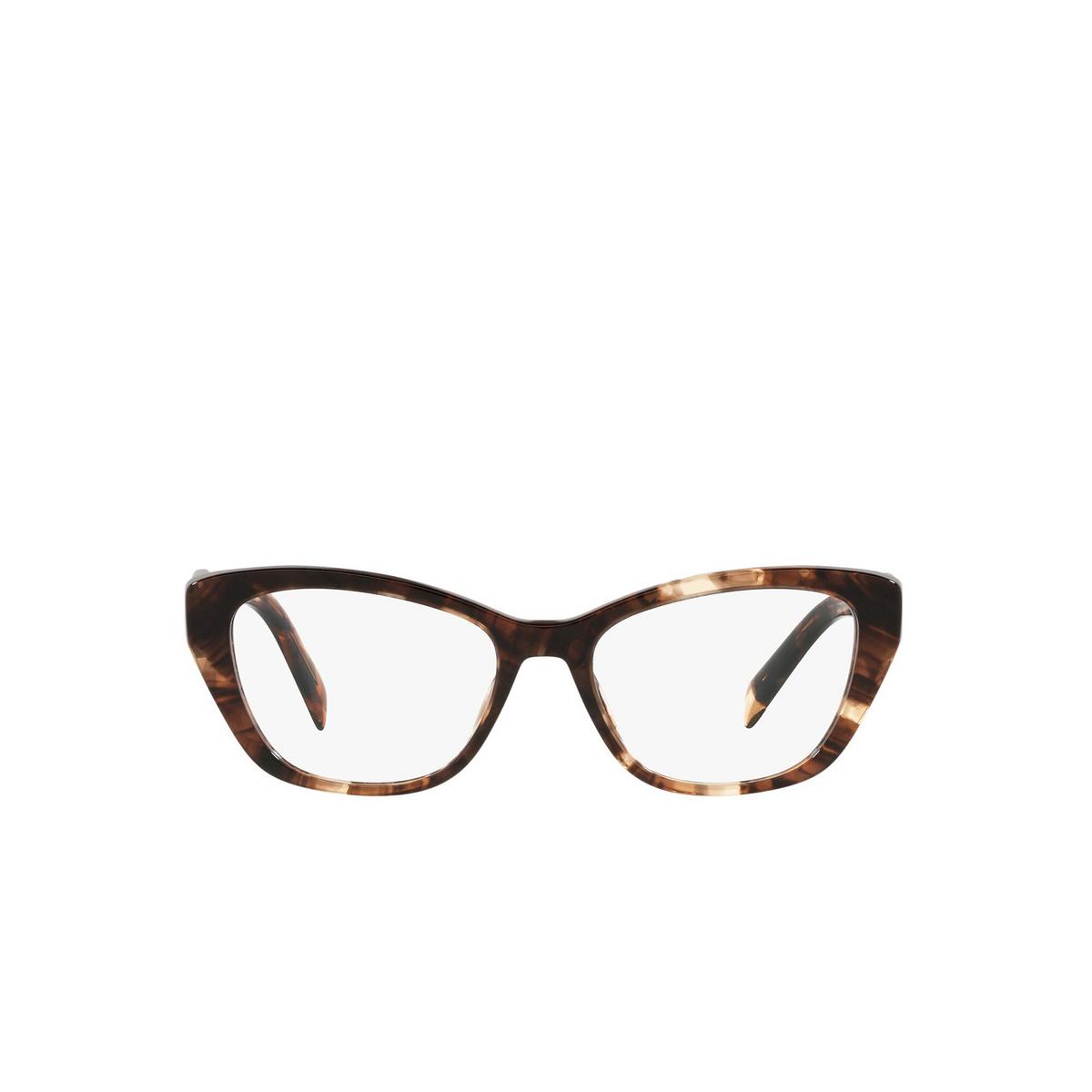 Prada® Cat-eye Eyeglasses: PR 19WV color Caramel Tortoise 07R1O1 - front view.
