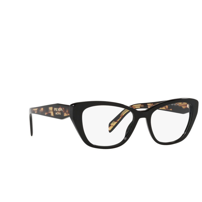Prada® Cat-eye Eyeglasses: PR 19WV color Black 1AB1O1.
