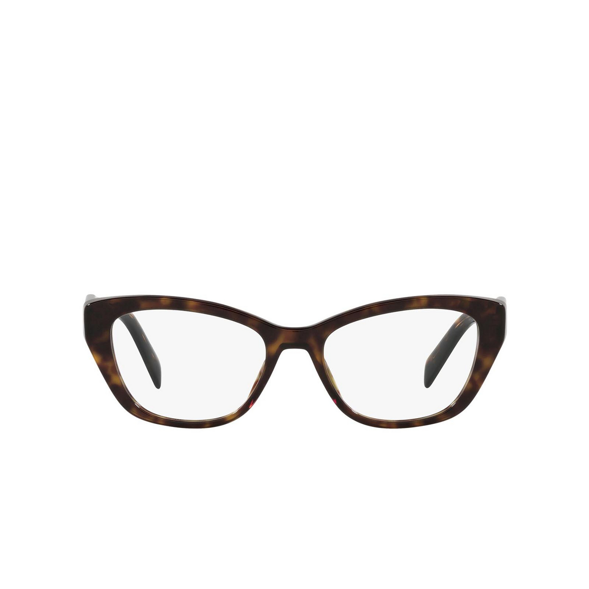 Prada® Cat-eye Eyeglasses: PR 19WV color Tortoise 2AU1O1 - front view.
