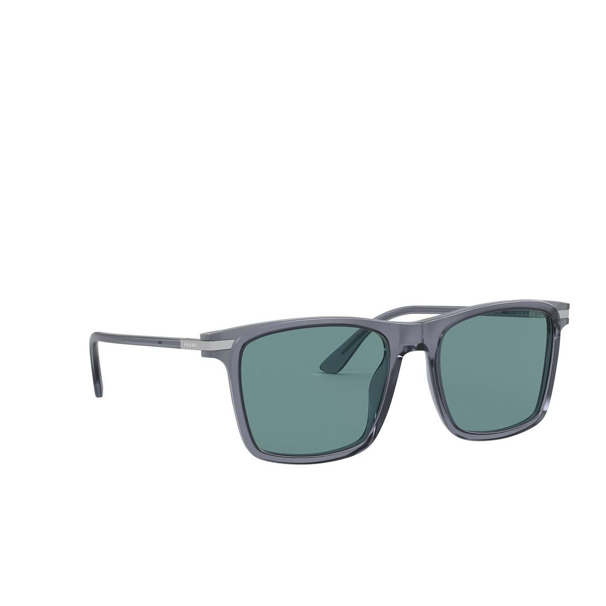 Prada® Square Sunglasses: PR 19XS color Grey 01G04D - three-quarters view.