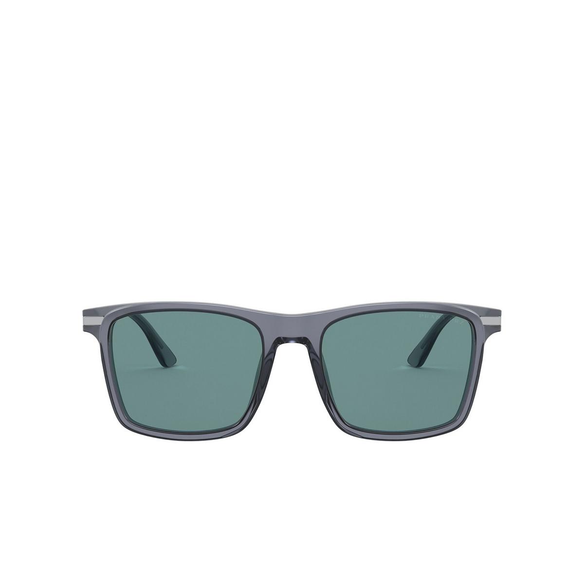 Prada® Square Sunglasses: PR 19XS color Grey 01G04D - front view.
