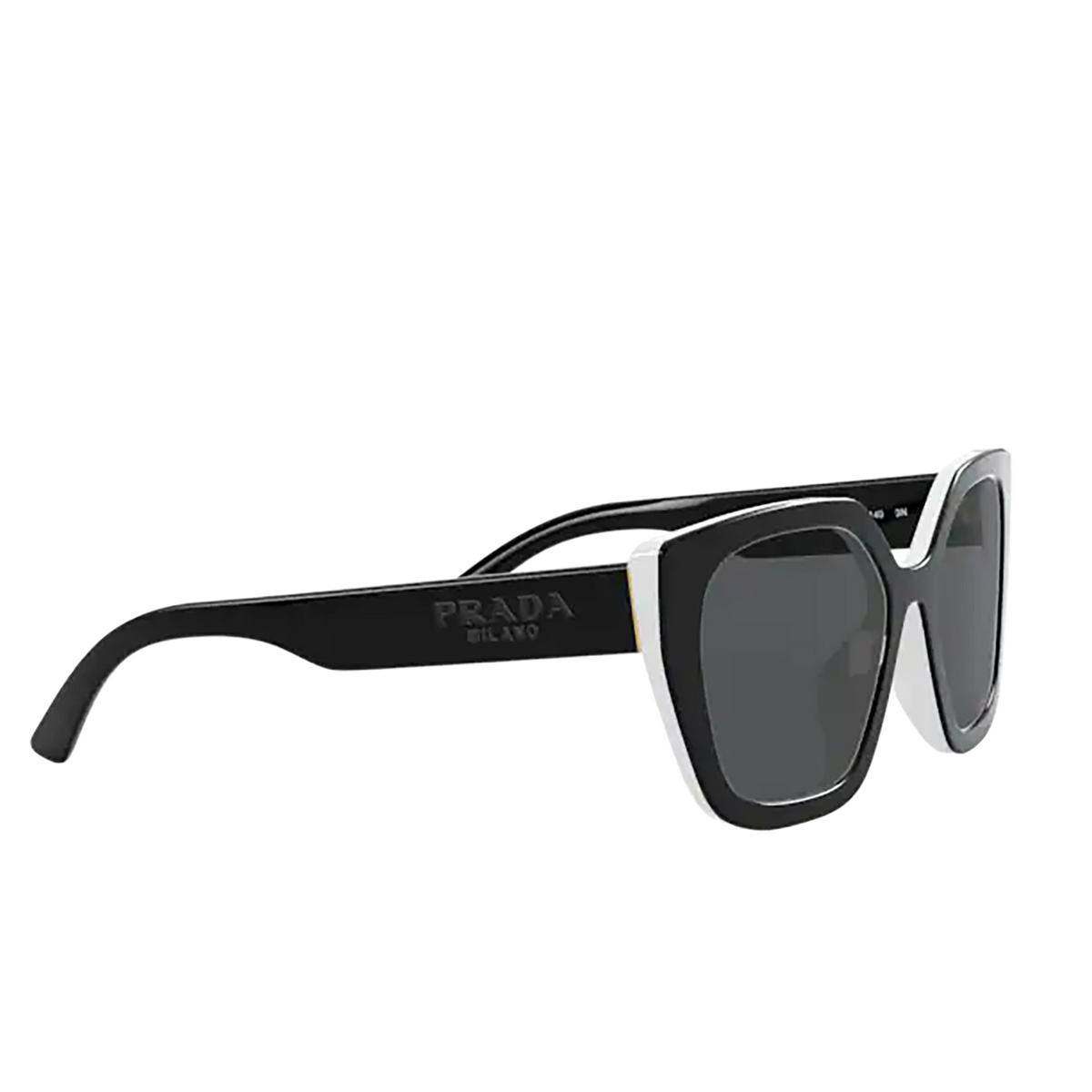 Prada® Rectangle Sunglasses: PR 24XS color Black / Ivory YC45S0.