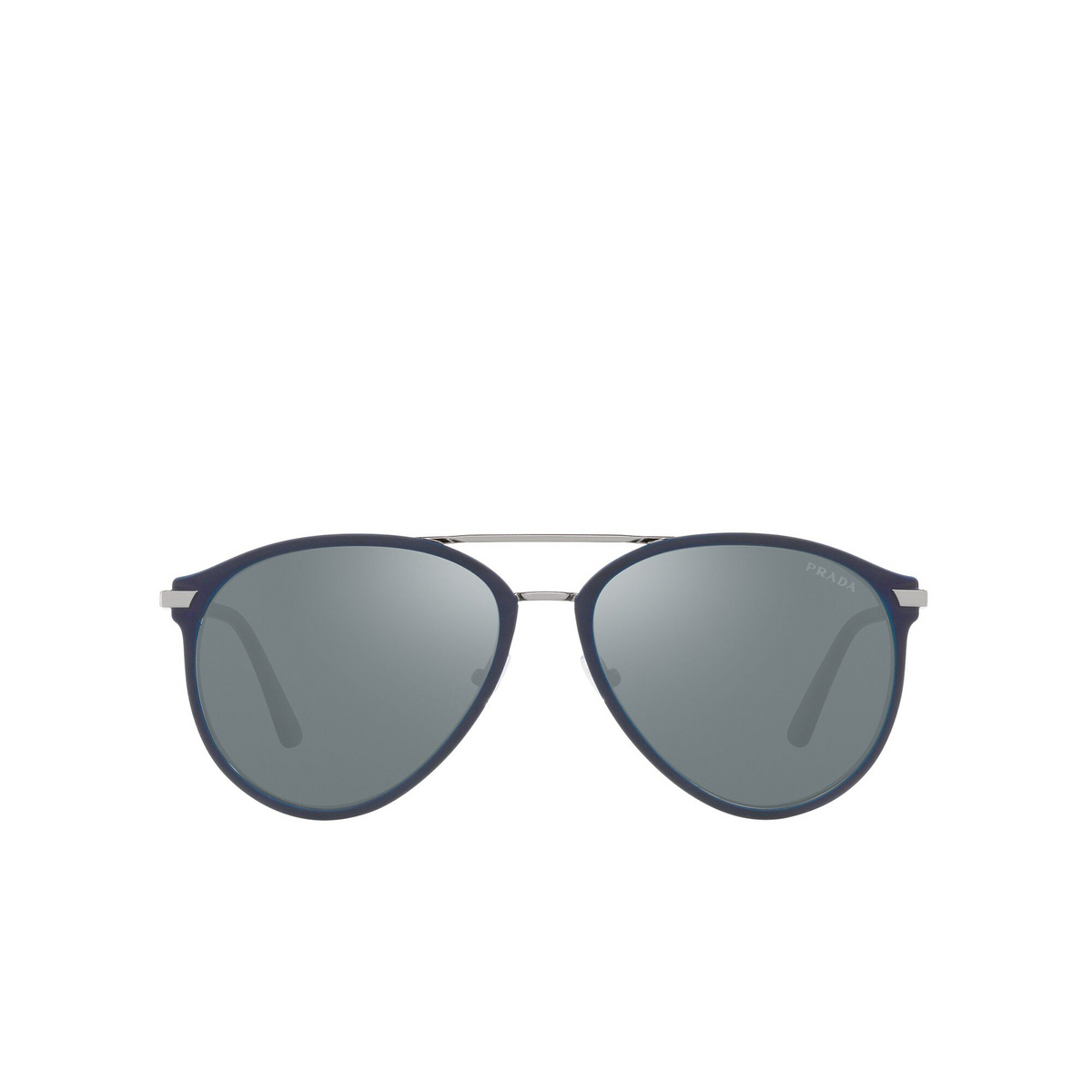 Prada® Aviator Sunglasses: PR 51WS color Matte Baltic / Gunmetal 02N01A - front view.