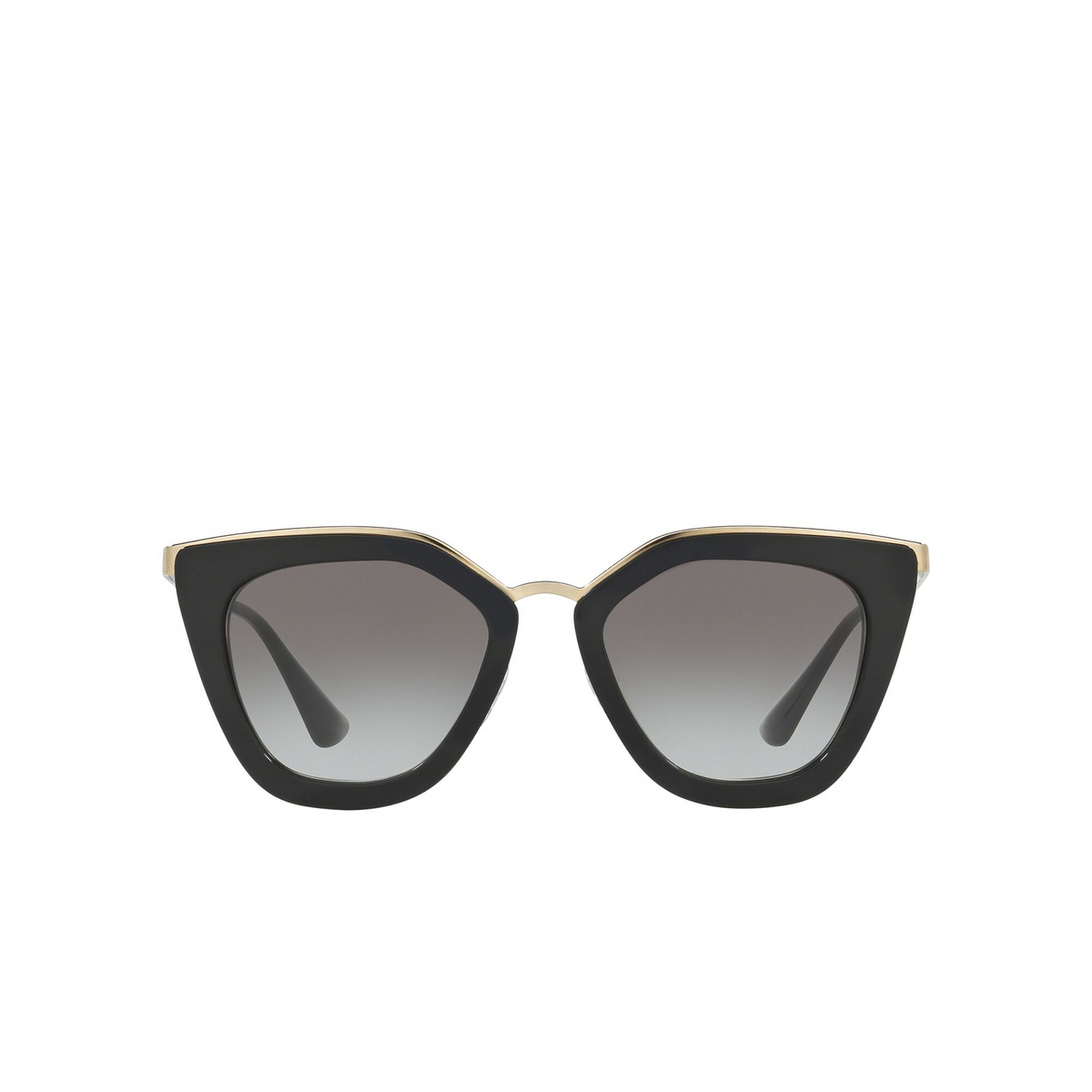 Prada® Cat-eye Sunglasses: PR 53SS color Black 1AB0A7 - front view.