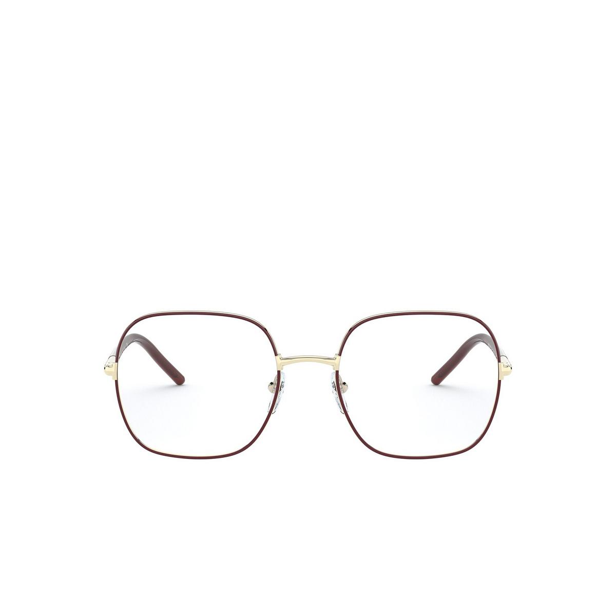 Prada® Rectangle Eyeglasses: PR 56WV color Bordeaux 09B1O1 - front view.
