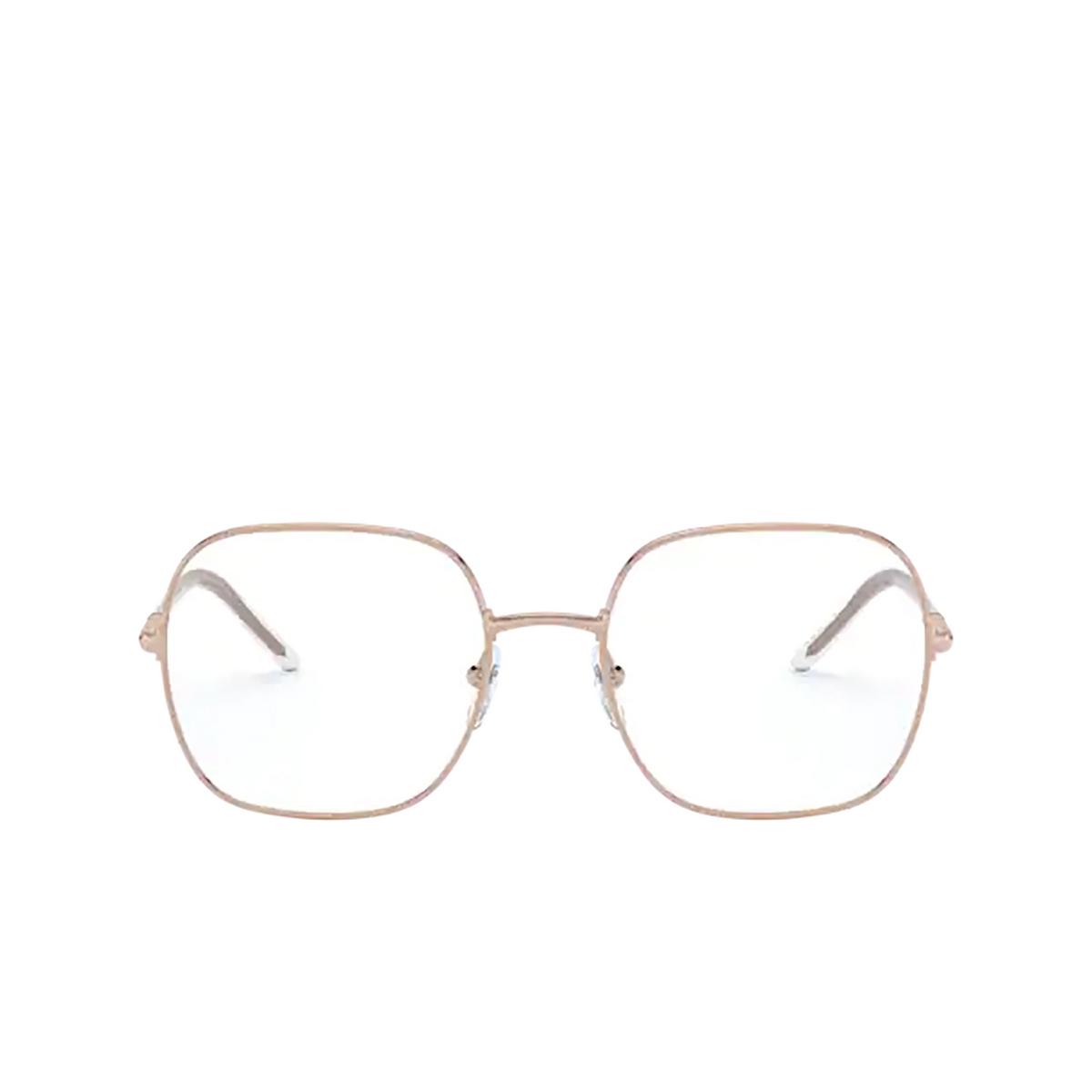 Prada® Rectangle Eyeglasses: PR 56WV color Pink Gold SVF1O1 - front view.