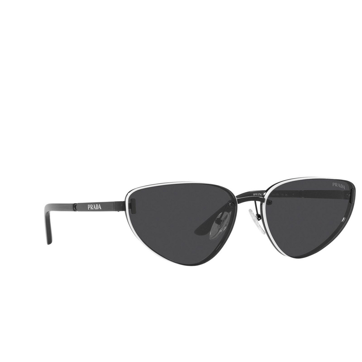 Prada® Cat-eye Sunglasses: PR 57WS color Black 1AB05B.