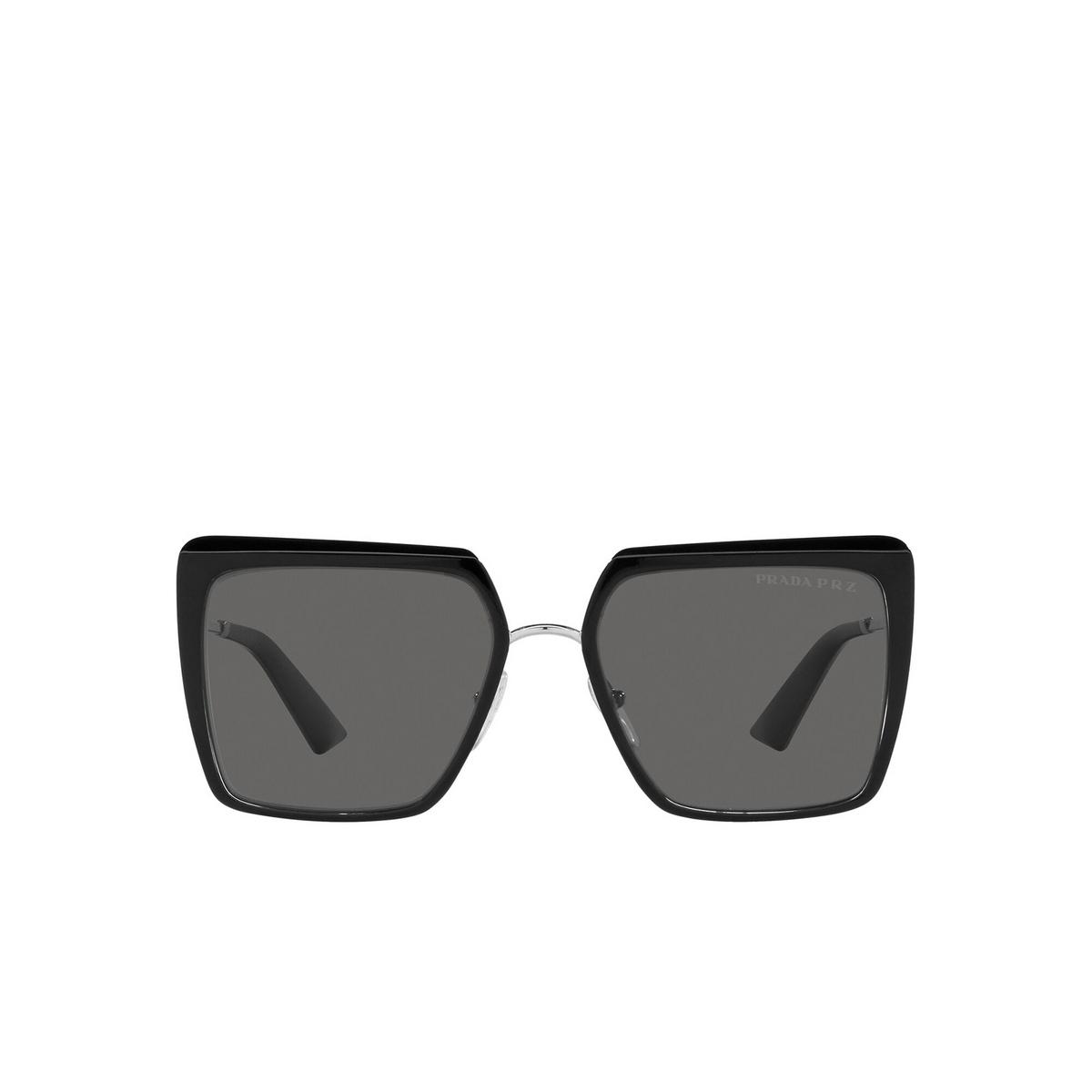 Prada® Square Sunglasses: PR 58WS color Black 1AB5Z1 - front view.