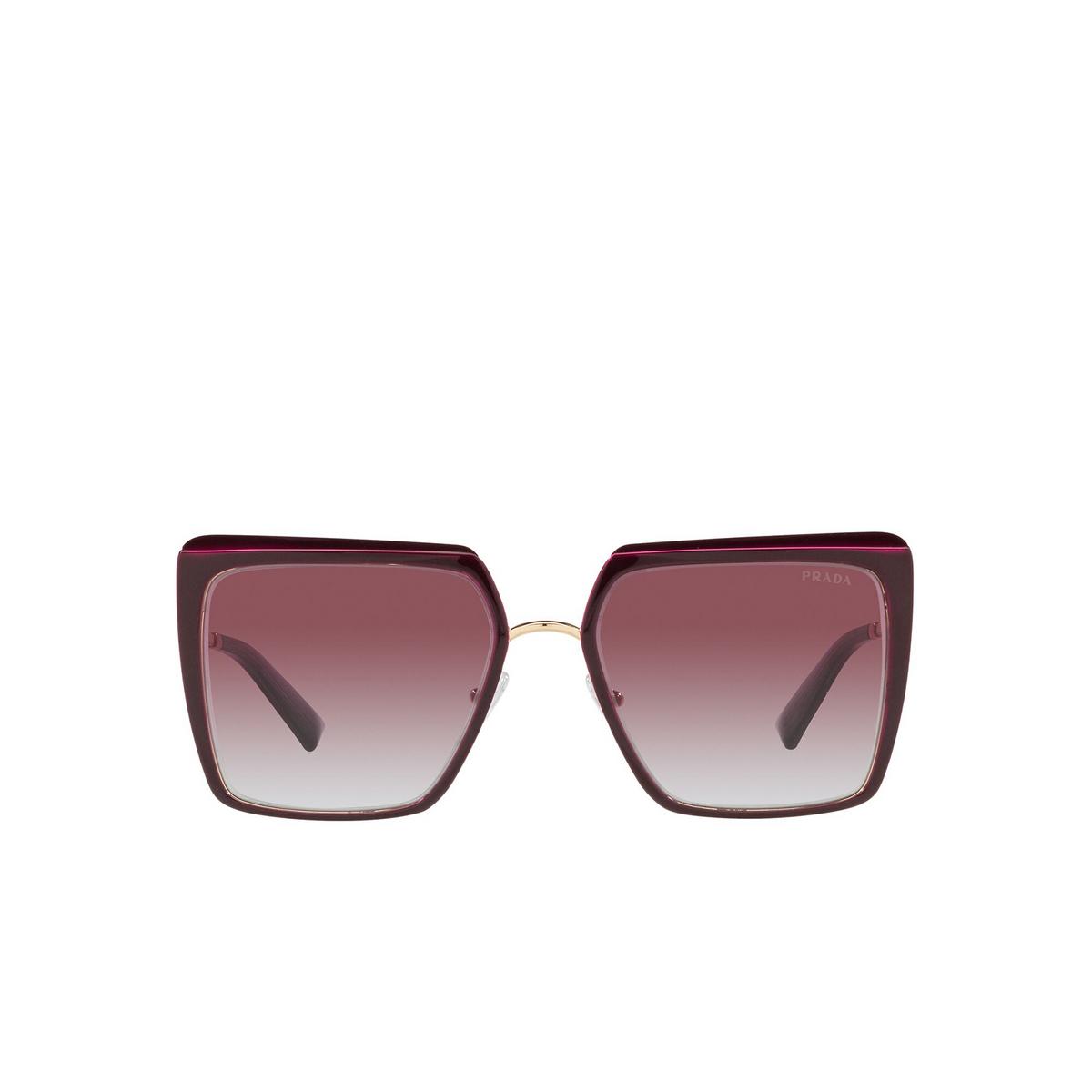 Prada® Square Sunglasses: PR 58WS color Garnet VIY412 - front view.