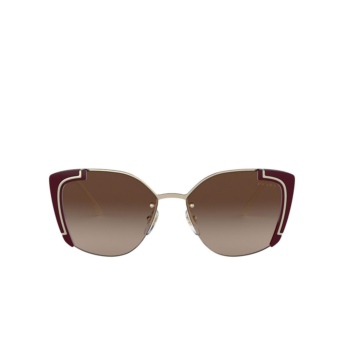 Prada® Butterfly Sunglasses: PR 59VS color Pale Gold / Bordeaux 4306S1 - front view.