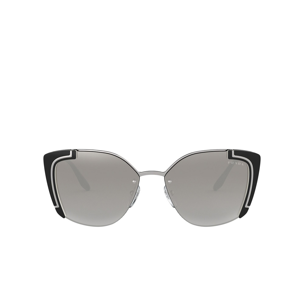 Prada® Butterfly Sunglasses: PR 59VS color Silver / Black Ivory 4315O0 - front view.