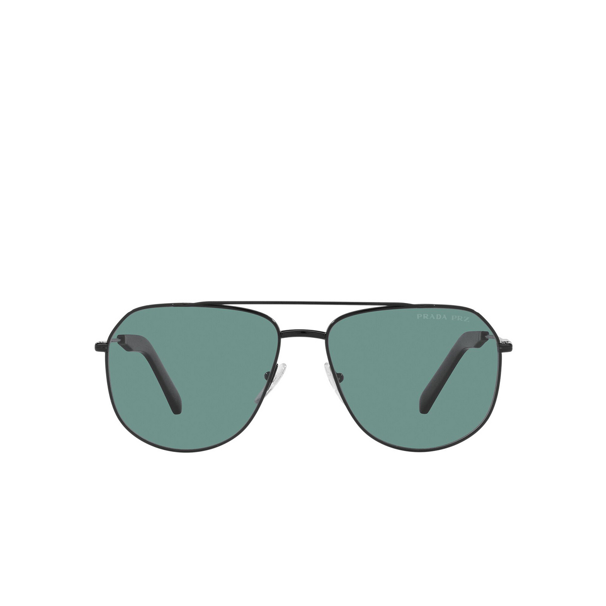 Prada® Aviator Sunglasses: PR 59WS color Black 1AB04D - front view.