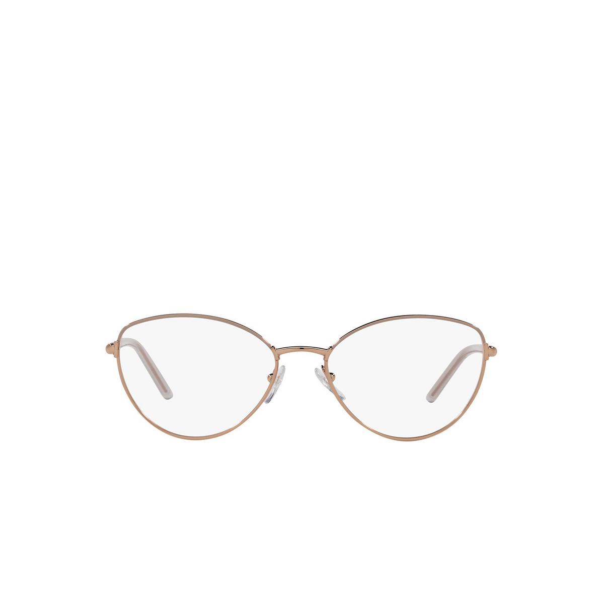 Prada® Butterfly Eyeglasses: PR 62WV color Powder / Pink Gold 05R1O1 - front view.