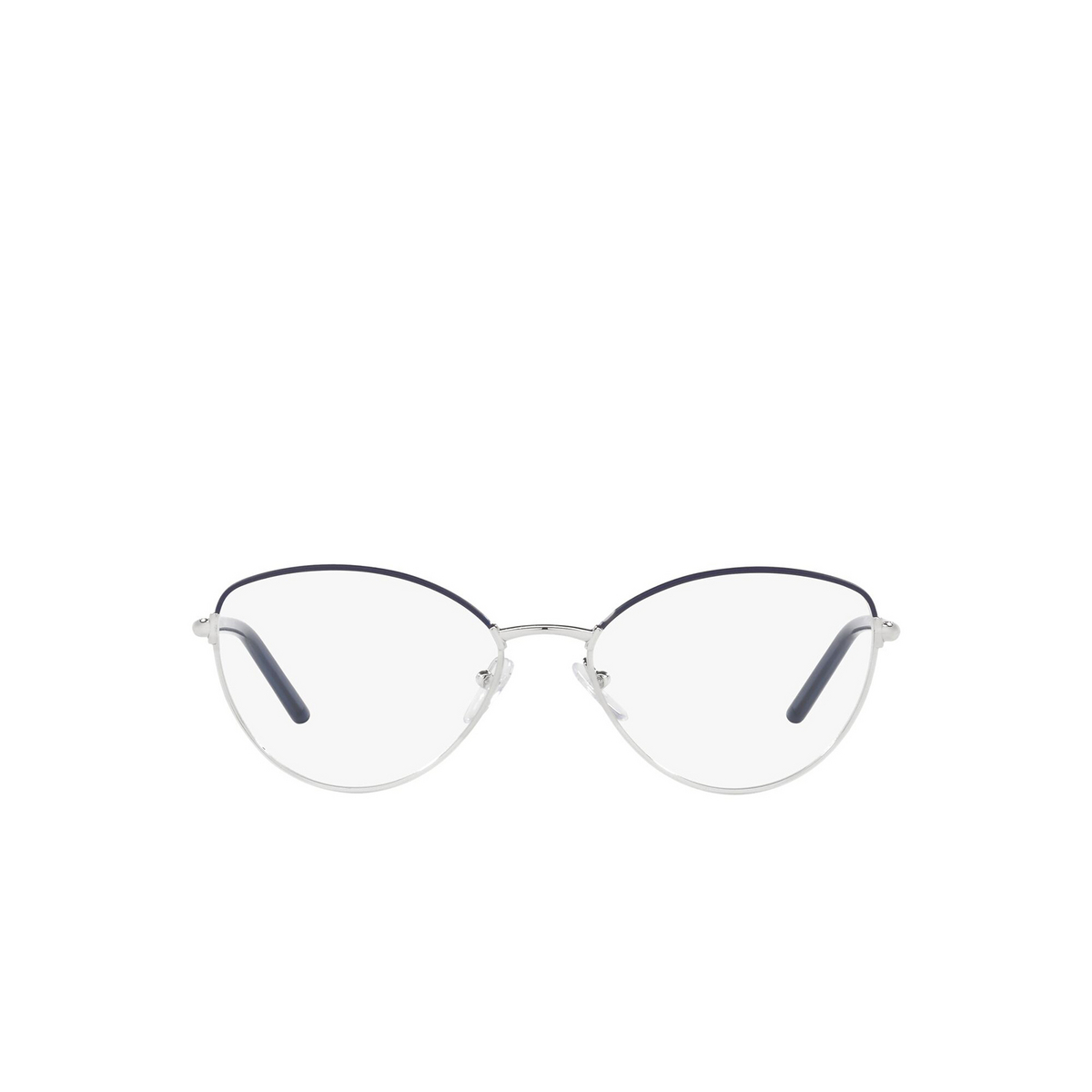 Prada® Butterfly Eyeglasses: PR 62WV color Bluette / Silver 09R1O1 - front view.