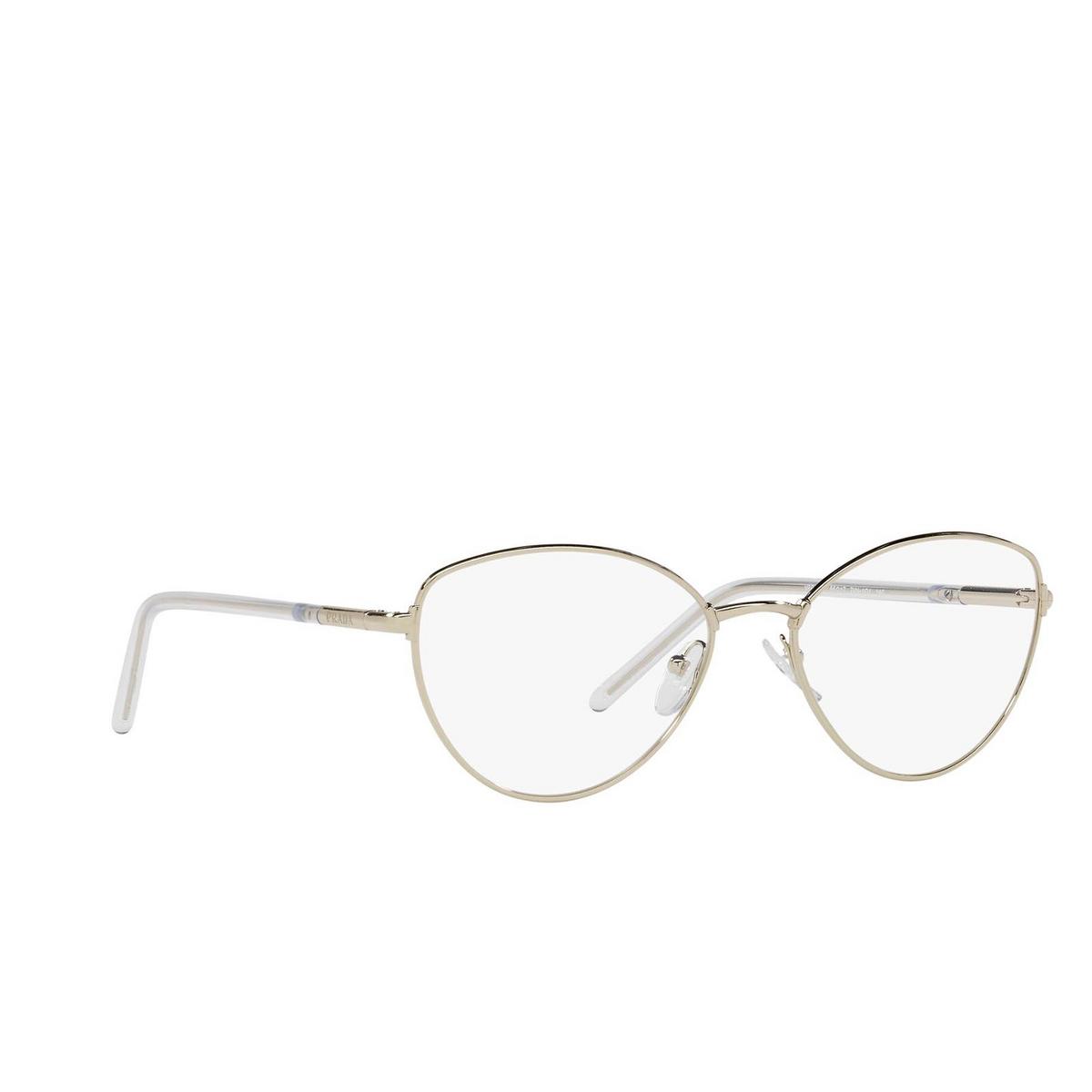 Prada® Butterfly Eyeglasses: PR 62WV color Pale Gold ZVN1O1.