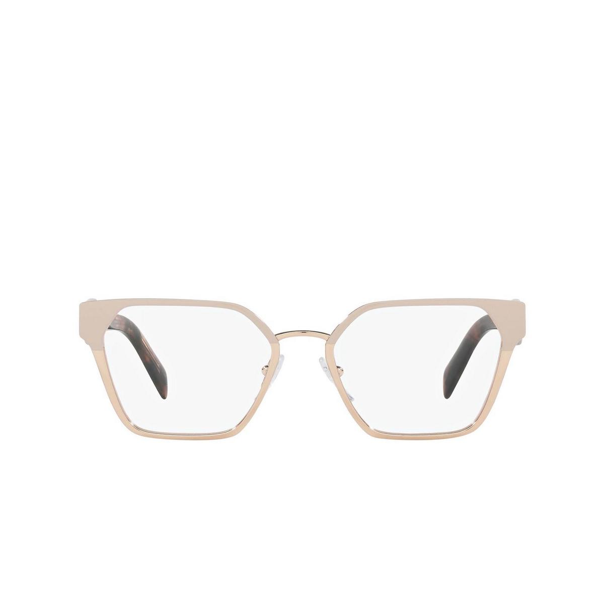 Prada® Irregular Eyeglasses: PR 63WV color Powder/ Pink Gold 05L1O1 - front view.