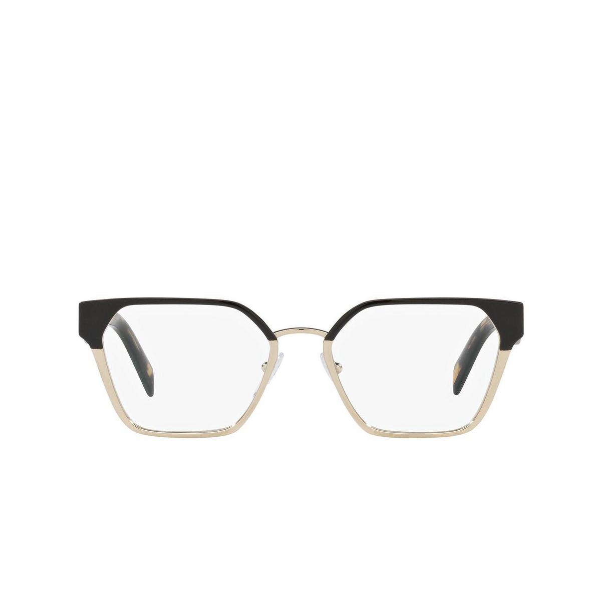 Prada® Irregular Eyeglasses: PR 63WV color Black/pale Gold AAV1O1.