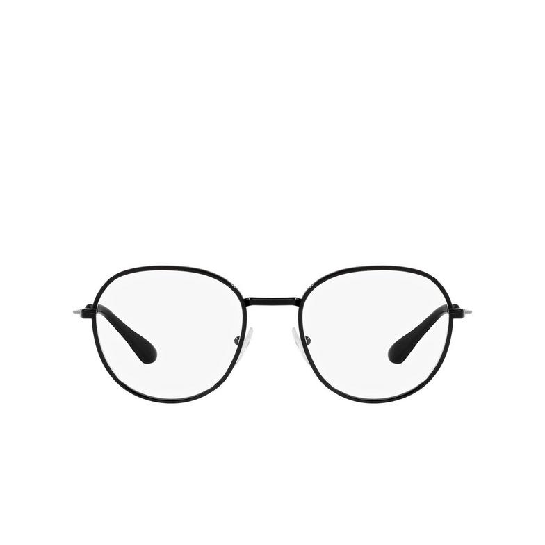Prada® Oval Eyeglasses: PR 65WV color Matte Black 1BO1O1.