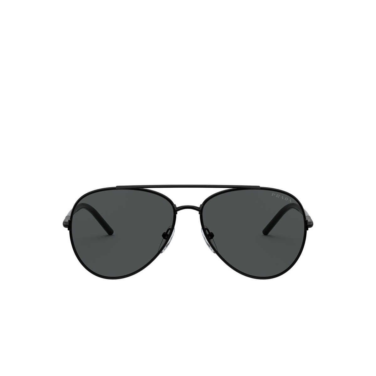 Prada® Aviator Sunglasses: PR 66XS color Black 1AB5S0 - front view.