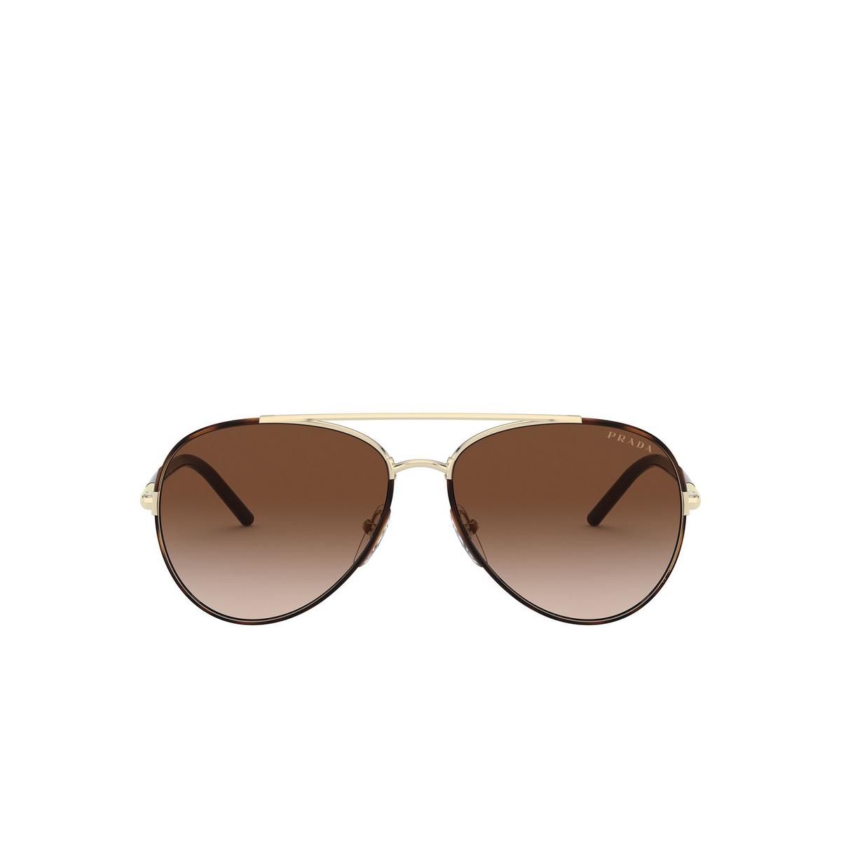 Prada® Aviator Sunglasses: PR 66XS color Havana 2AU6S1 - front view.