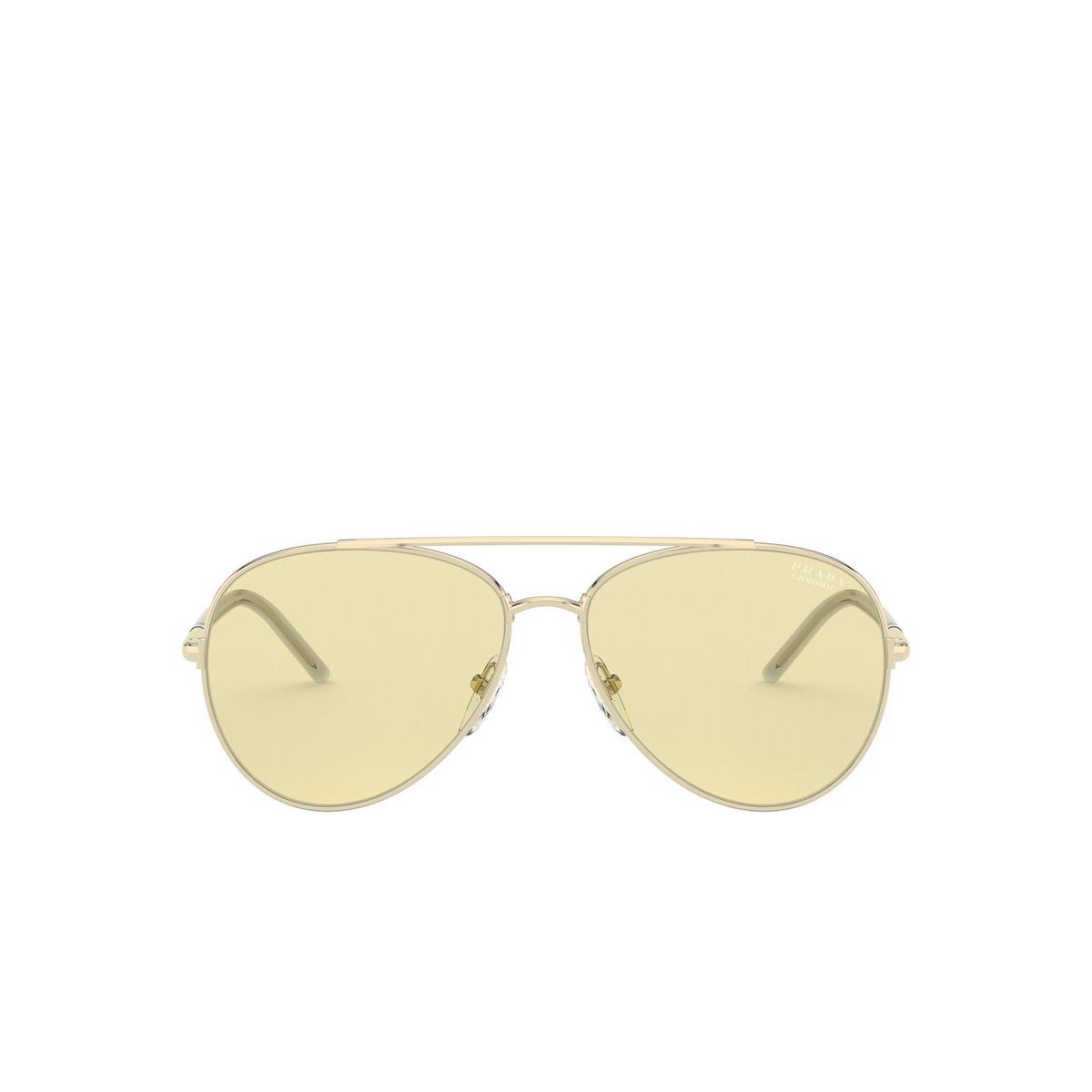 Prada® Aviator Sunglasses: PR 66XS color Pale Gold ZVN01F - front view.
