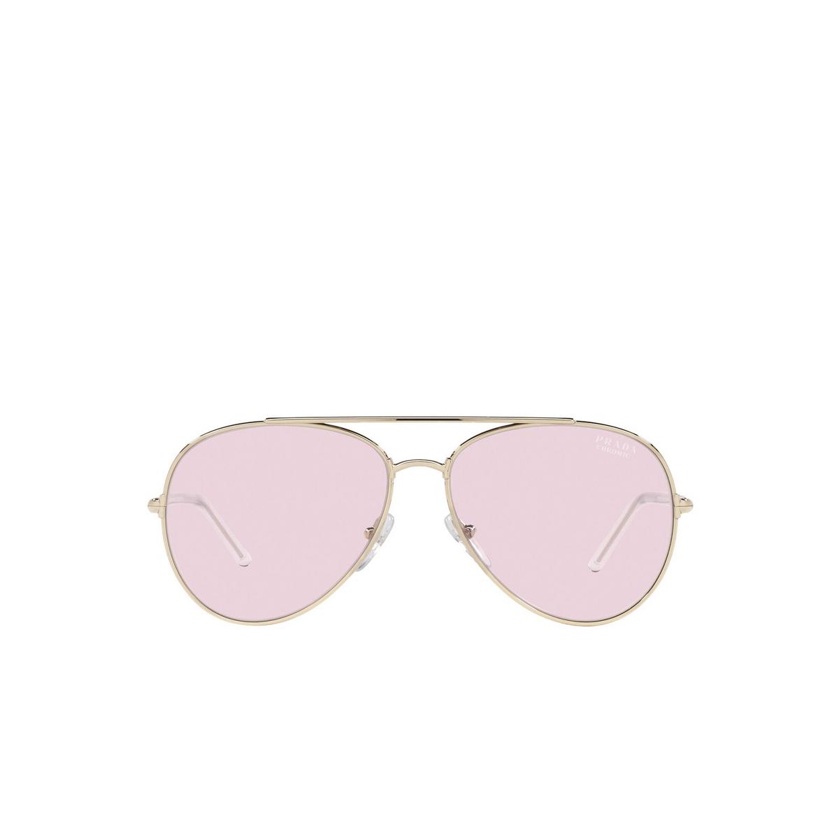 Prada® Aviator Sunglasses: PR 66XS color Pale Gold ZVN01N - front view.
