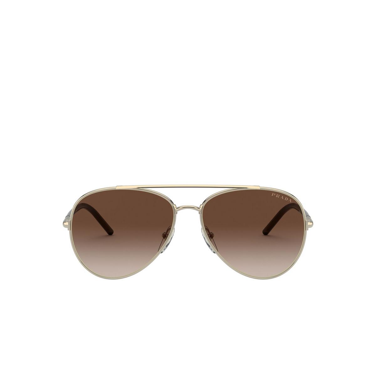 Prada® Aviator Sunglasses: PR 66XS color Pale Gold ZVN6S1 - front view.