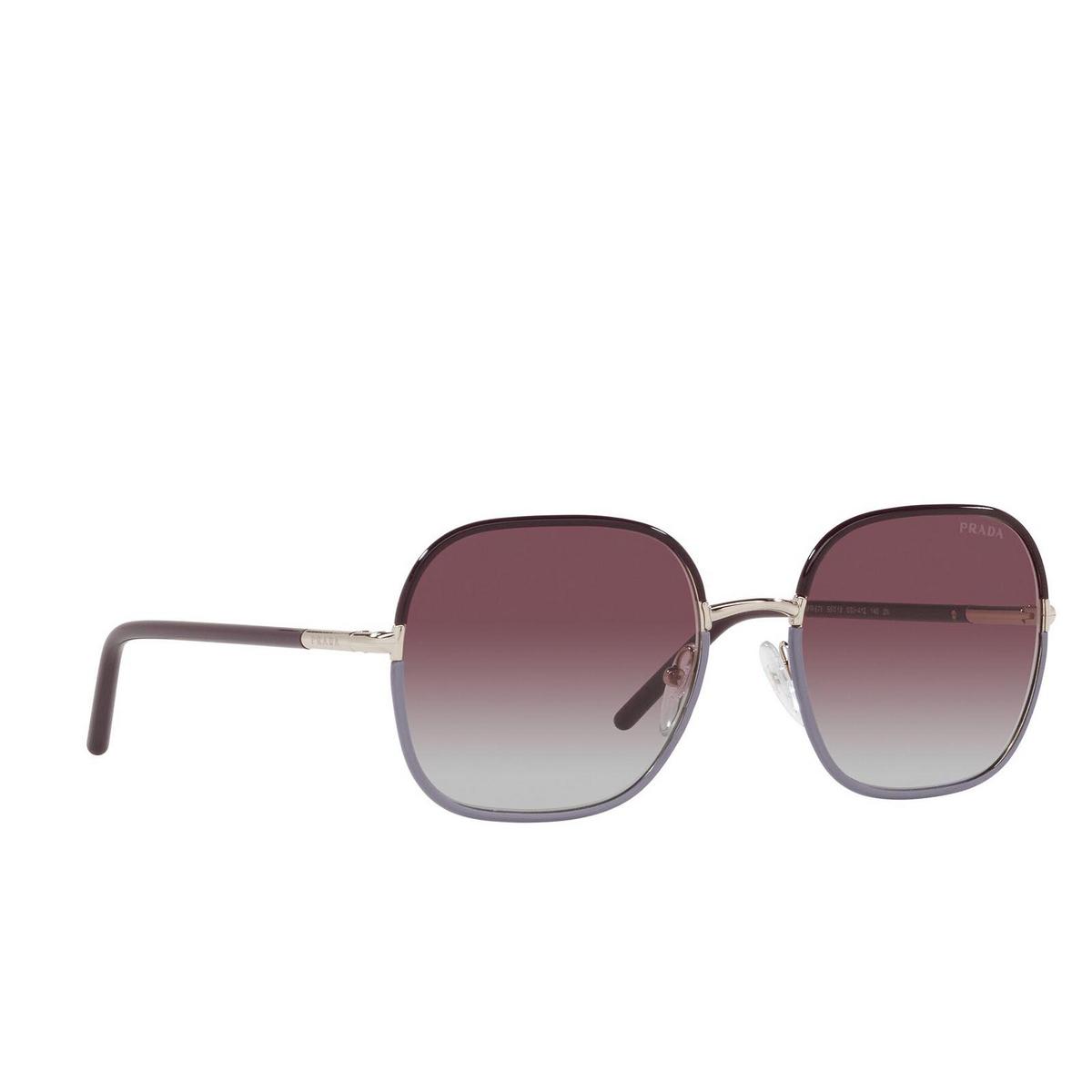 Prada® Square Sunglasses: PR 67XS color Plum / Wisteria 03U412.