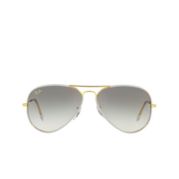 Ray-Ban® Aviator Sunglasses: Aviator Full Color RB3025JM color Grey On Legend Gold 919632.