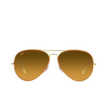 Ray-Ban® Aviator Sunglasses: Aviator Full Color RB3025JM color Orange On Legend Gold 91963C.
