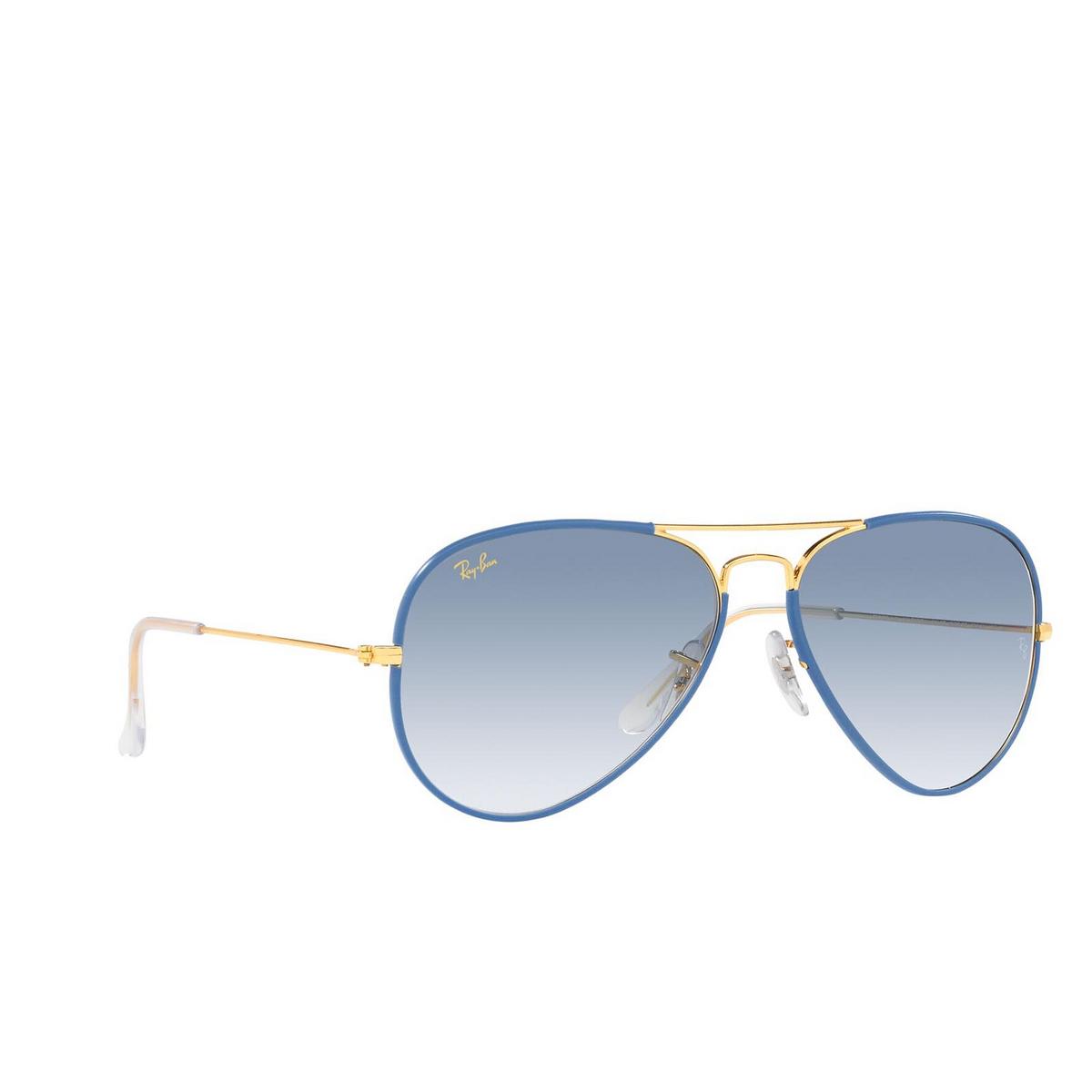 Ray-Ban® Aviator Sunglasses: Aviator Full Color RB3025JM color Light Blue On Legend 91963F - 2/3.