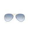 Ray-Ban® Aviator Sunglasses: Aviator Full Color RB3025JM color Light Blue On Legend 91963F - product thumbnail 1/3.