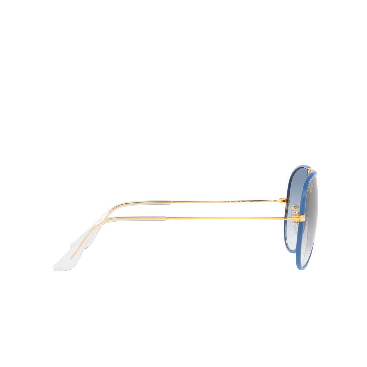 Ray-Ban® Aviator Sunglasses: Aviator Full Color RB3025JM color Light Blue On Legend 91963F - 3/3.