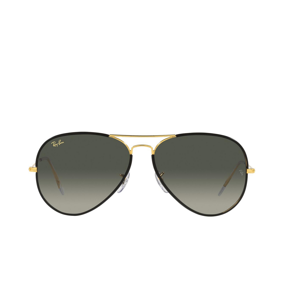 Ray-Ban® Aviator Sunglasses: Aviator Full Color RB3025JM color Black On Legend Gold 919671.