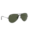 Ray-Ban® Aviator Sunglasses: Aviator Large Metal Ii RB3026 color Black L2821 - product thumbnail 2/3.