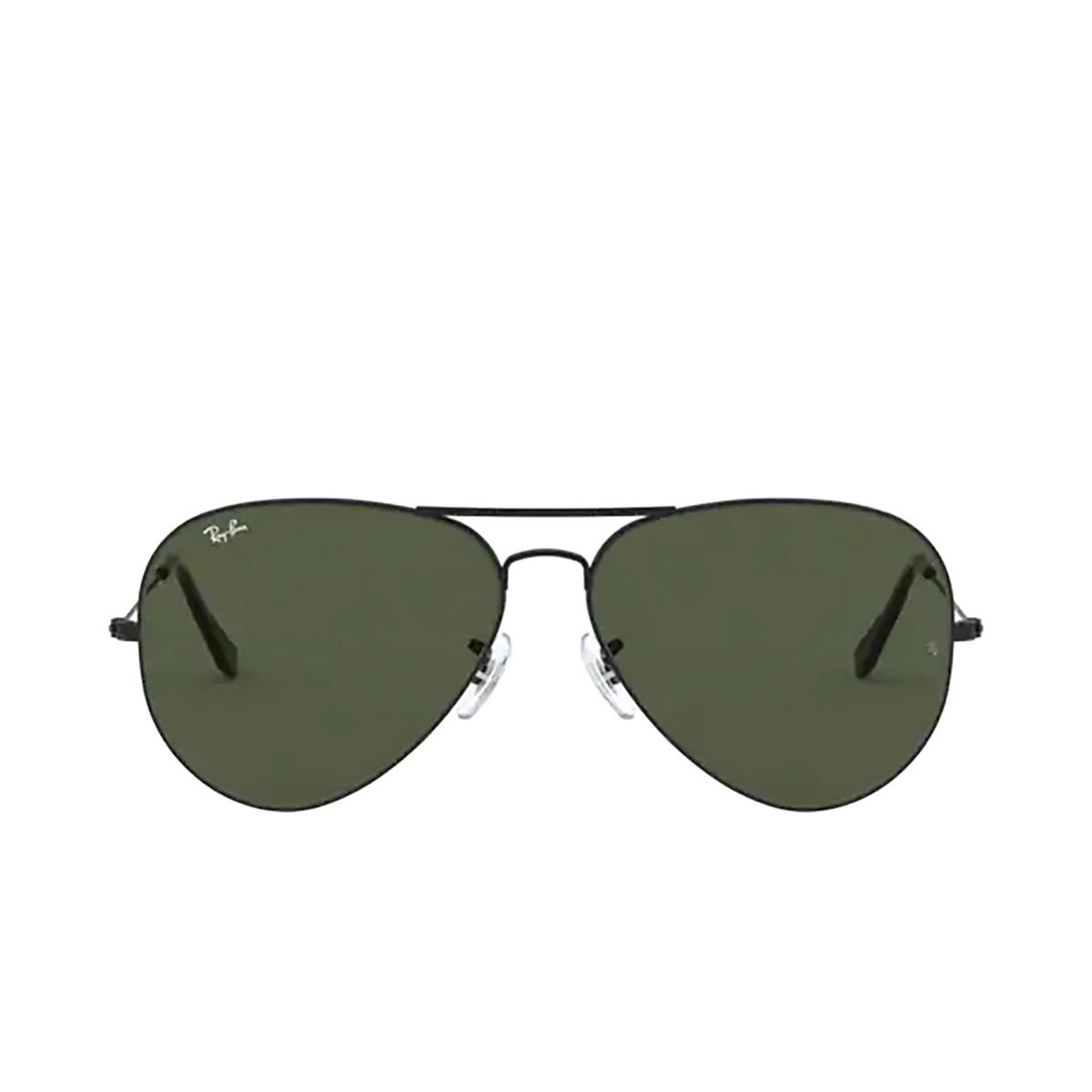 Ray-Ban® Aviator Sunglasses: Aviator Large Metal Ii RB3026 color Black L2821 - 1/3.