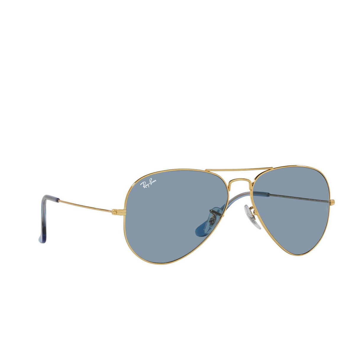 Ray-Ban® Aviator Sunglasses: Aviator Large Metal RB3025 color True Blue 001/56.