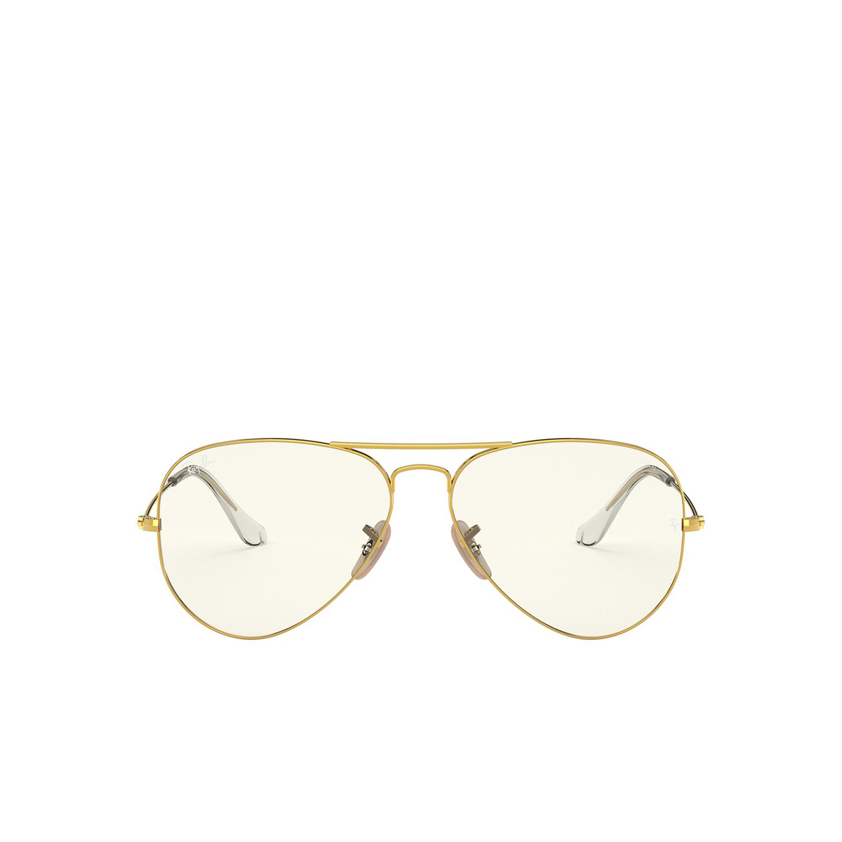 Ray-Ban® Aviator Sunglasses: Aviator Large Metal RB3025 color Arista 001/5F - front view.