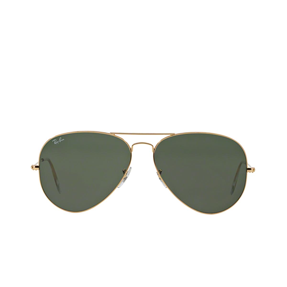 Ray-Ban® Aviator Sunglasses: Aviator Large Metal RB3025 color Arista 001.