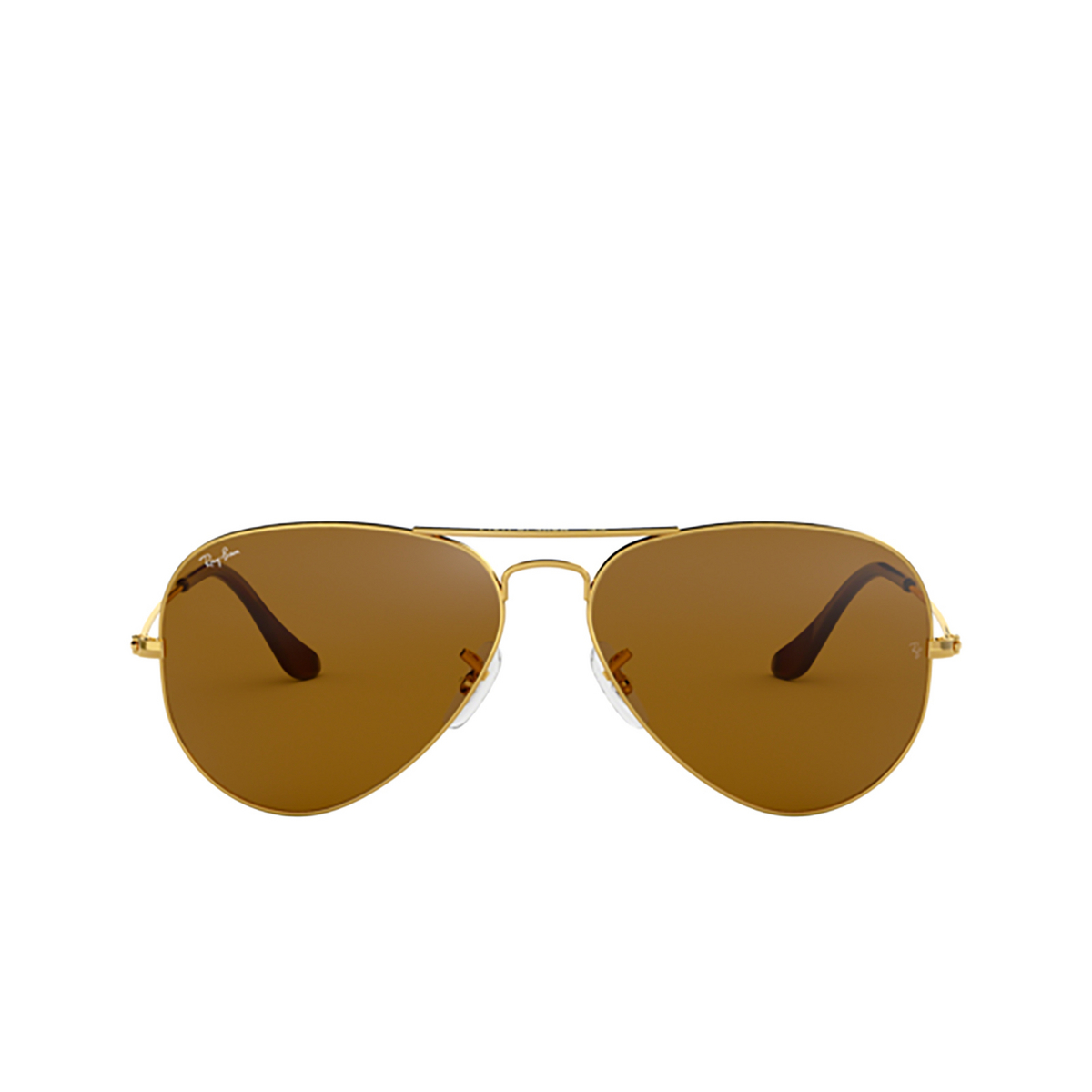 Ray-Ban® Aviator Sunglasses: Aviator Large Metal RB3025 color Arista 001/33 - front view.