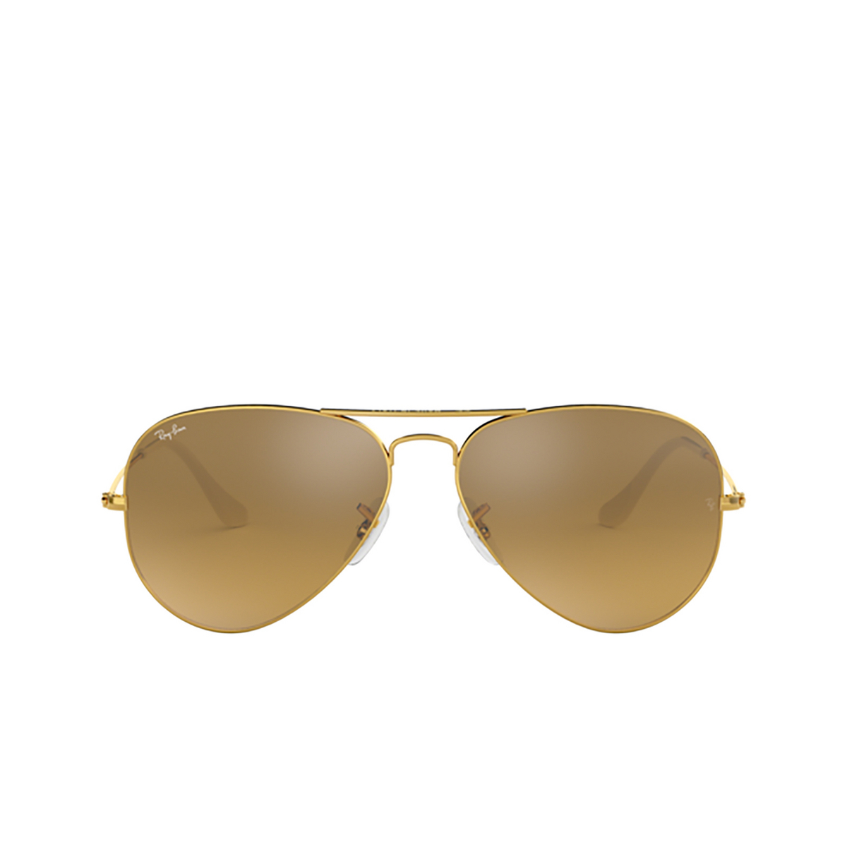 Ray-Ban® Aviator Sunglasses: Aviator Large Metal RB3025 color Arista 001/3K - front view.