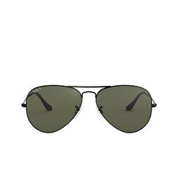 Ray-Ban® Sunglasses: Aviator Large Metal RB3025 color Black 002/58.