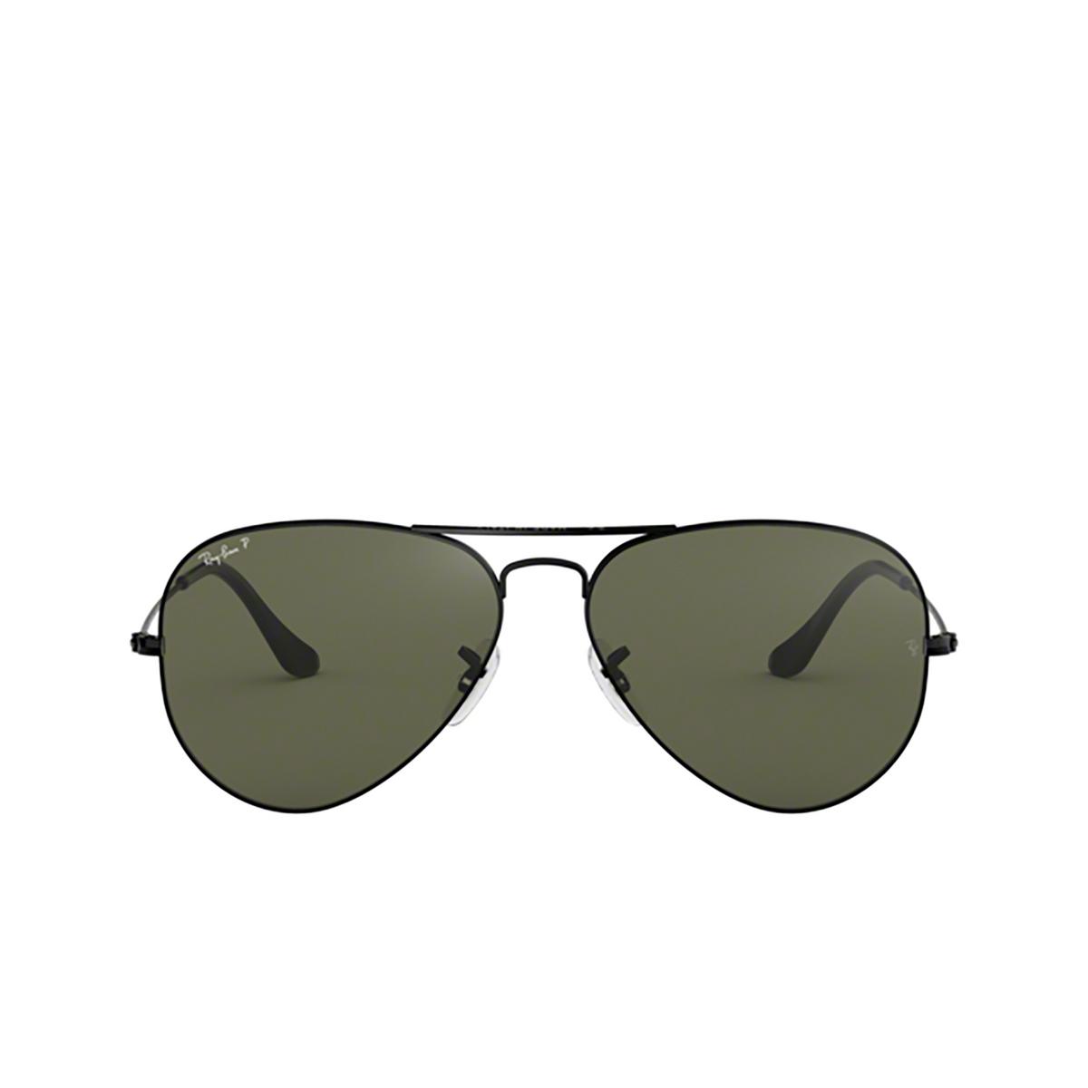 Ray-Ban® Aviator Sunglasses: Aviator Large Metal RB3025 color Black 002/58.