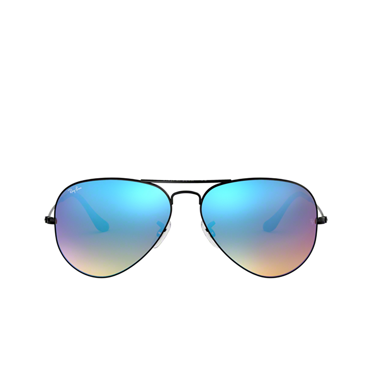Ray-Ban® Aviator Sunglasses: Aviator Large Metal RB3025 color Black 002/4O - front view.