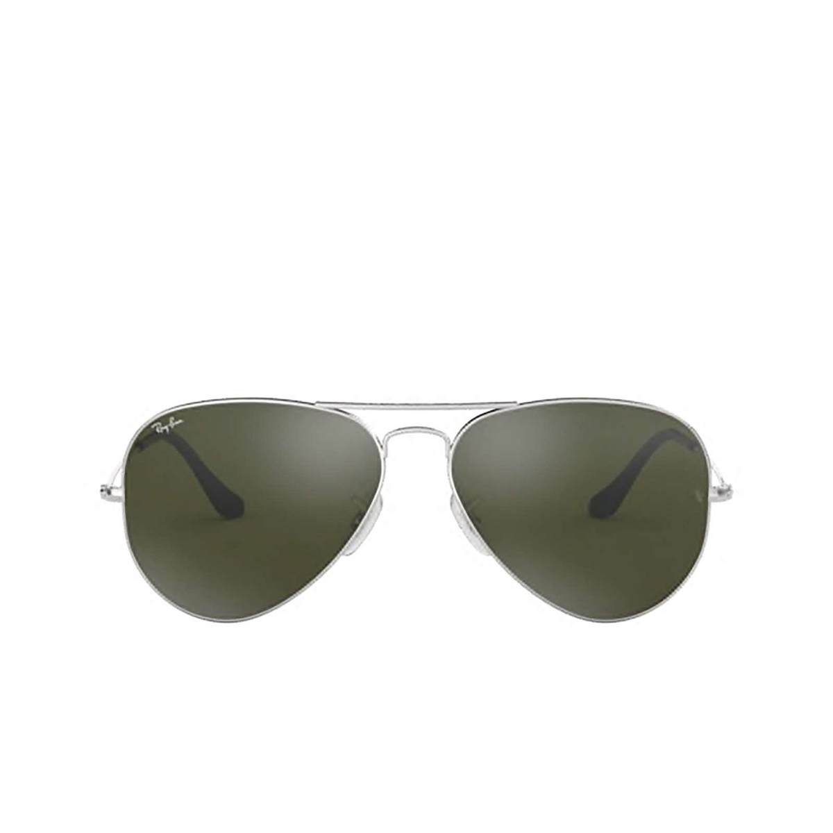 Ray-Ban® Aviator Sunglasses: Aviator Large Metal RB3025 color Silver 003/40 - front view.