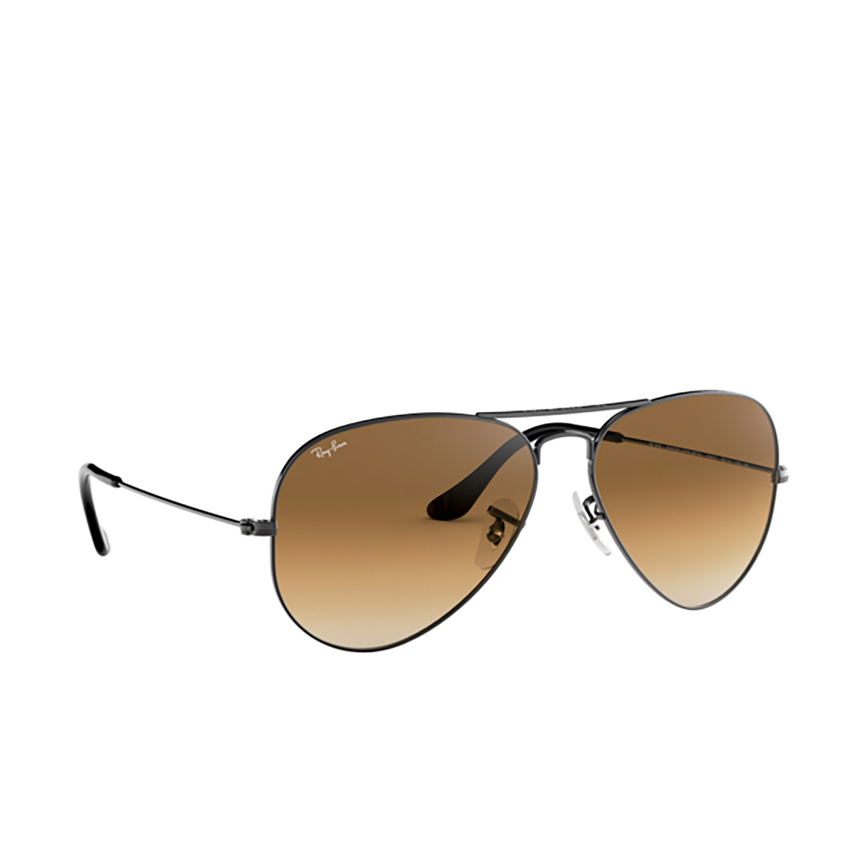 Ray-Ban® Aviator Sunglasses: Aviator Large Metal RB3025 color Gunmetal 004/51.