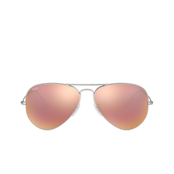 Ray-Ban® Sunglasses: Aviator Large Metal RB3025 color Matte Silver 019/Z2.